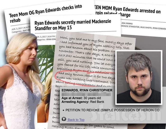 Ryan Edwards arrest timeline