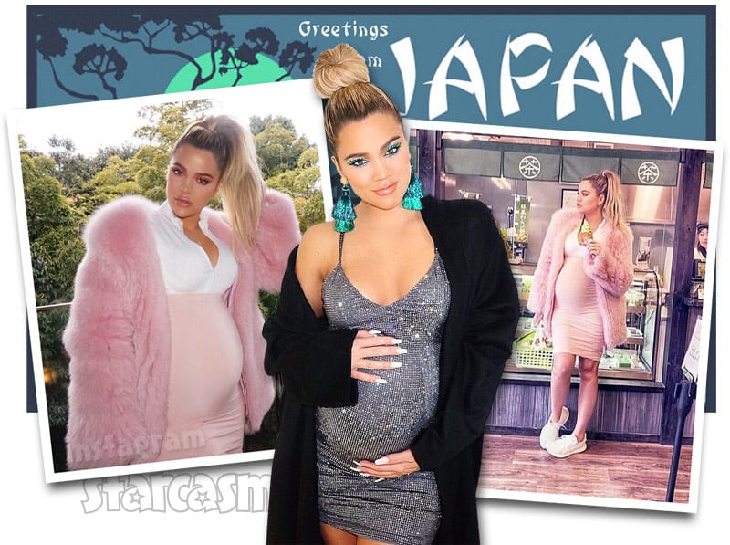 Pregnant Khloe Kardashian in Japan photos