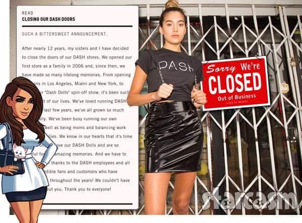 DASH stores closed