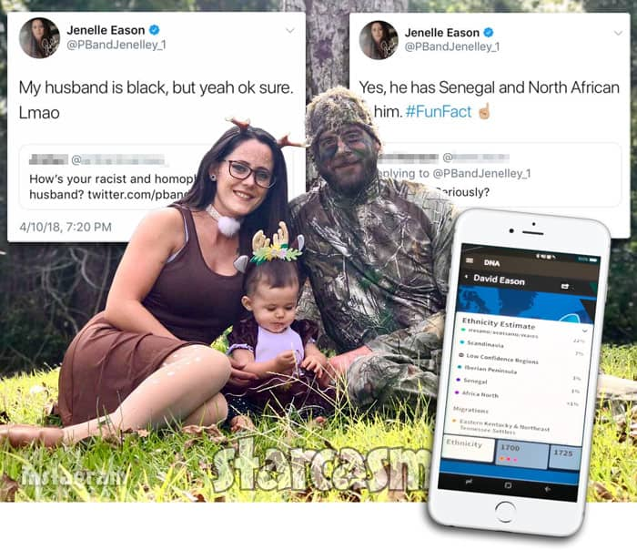 Jenelle Evans says husband David Eason is black