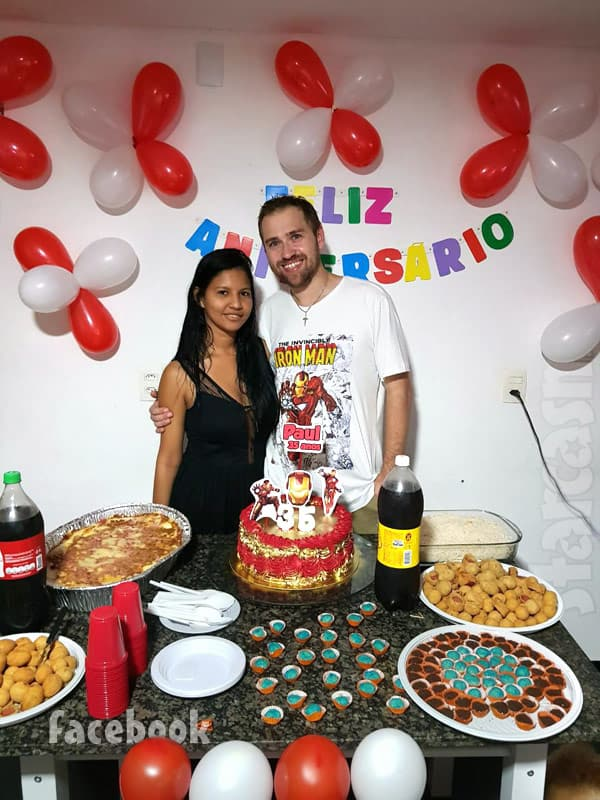 Before the 90 Days Paul Staehle Karine birthday party in Brazil