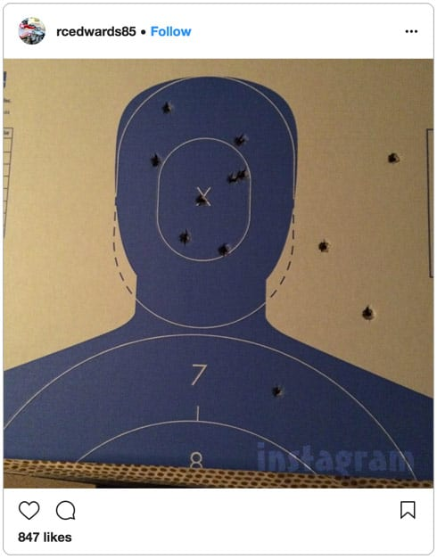 Ryan Edwards Shooting range target