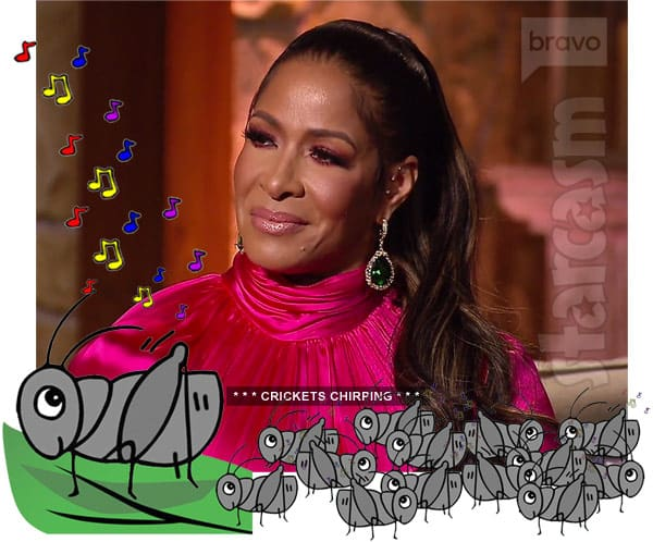 Sheree Whitfield reacts to news that Kenya Moore is pregnant at the RHOA Season 10 Reunion