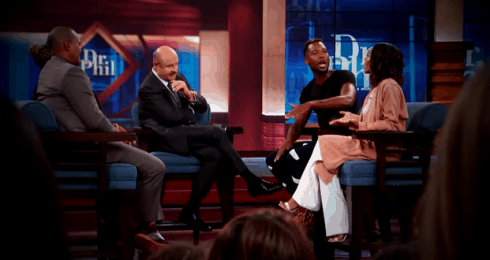 Moniece Slaughter confronts Dr. Phil on Twitter about her ...  Dr Phil Show Set