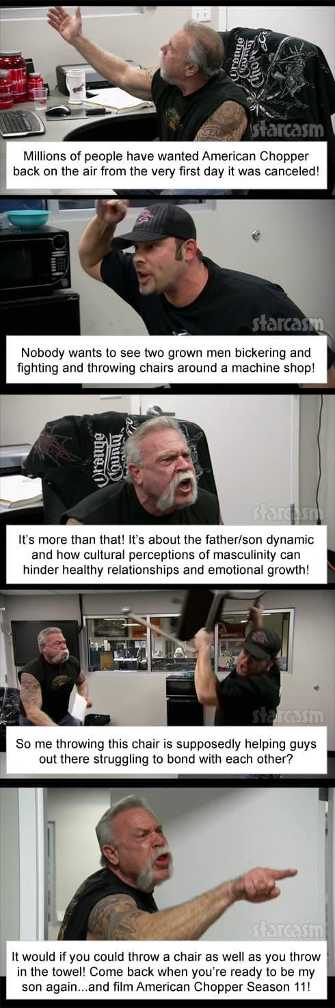 American Chopper fight meme