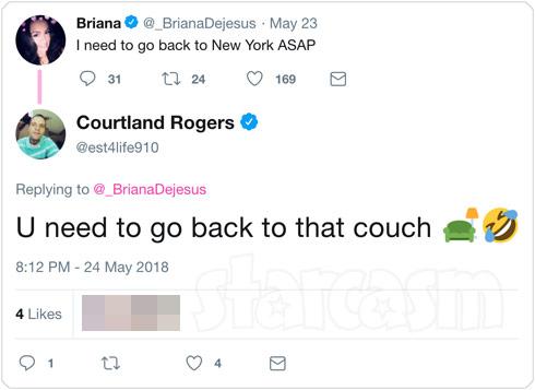 Briana DeJesus Courtland Rogers Twitter