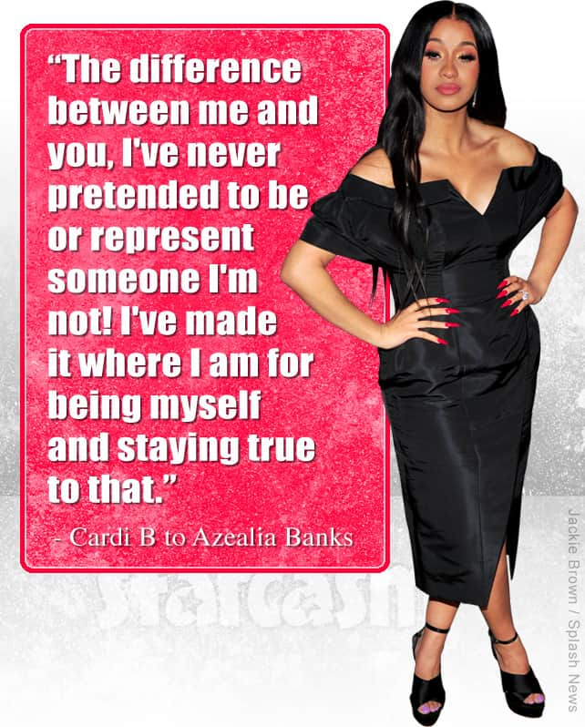 Cardi B quote about Azealia Banks