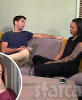 Catfish Ayissha Morgan and Nev Schulman together on the couch