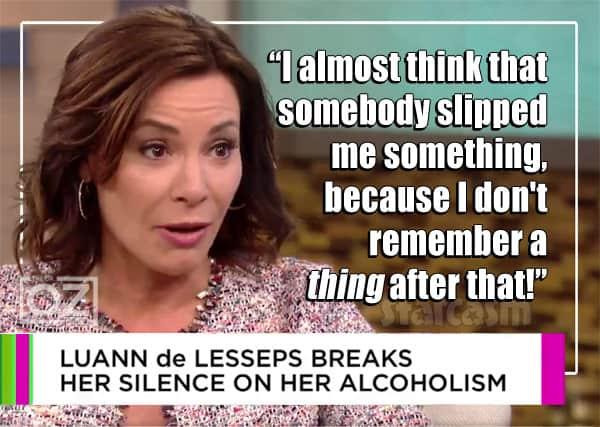 Countess Luann de Lesseps drugged before arrest Dr. Oz