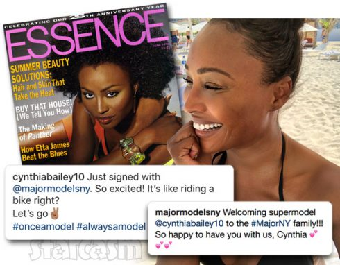 Cynthia Bailey signs with modeling agency Major Models NY