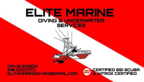 David Eason business card Elite Marine