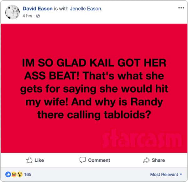 David Eason reacts to Teen Mom 2 Reunion brawl between Kail Lowry and Briana DeJesus
