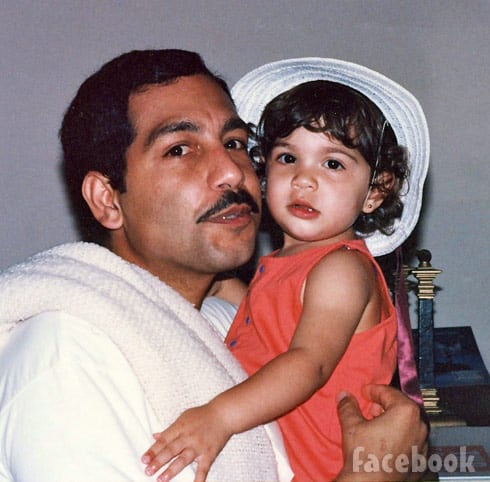 Farrah Abraham throwback photo with dad Michael Abraham