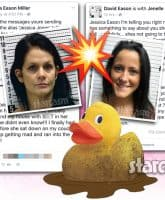 Jenelle Evans Jessica Eason feud mugshots mud duck