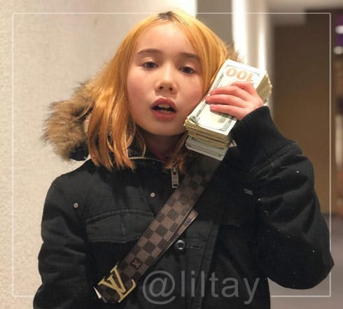 Lil Tay money phone