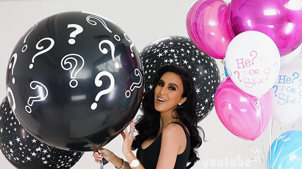 Lilly Ghalichi gender reveal video