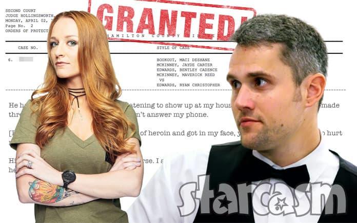 Maci McKinney Ryan Edwards restraining order