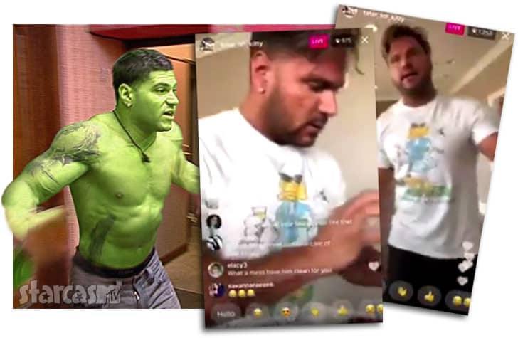 VIDEO Ronnie Magro and Jen Harley fight on Instagram live
