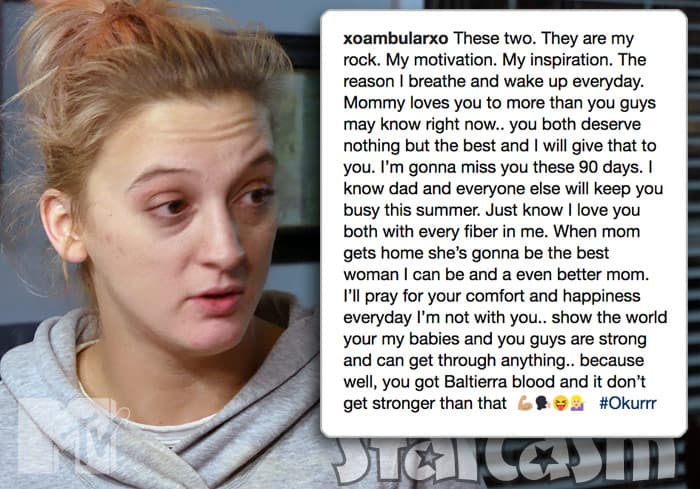 Tyler Baltierra's sister Amber Elkins headed to rehab in Texas for 90 days