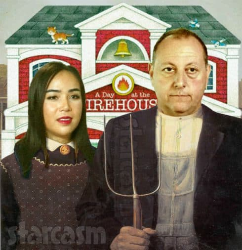 90 Day Fiance Annie David Toborowsky American Gothic painting firehouse