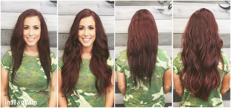 Chelsea Houska hair extensions