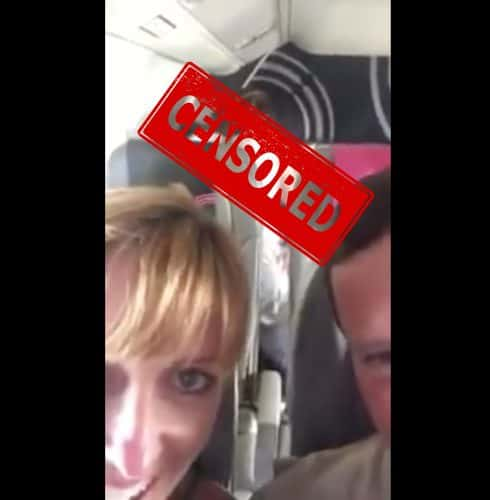Couple caught having sex on an airplane in viral Twitter video