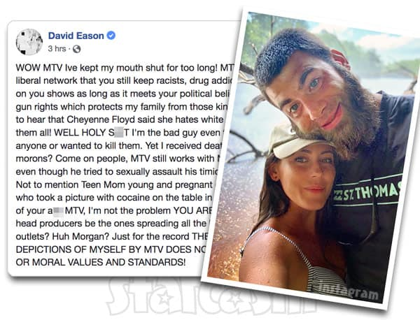 David Eason attacks MTV on Facebook