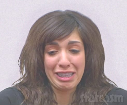 Farrah Abraham mug shot crying