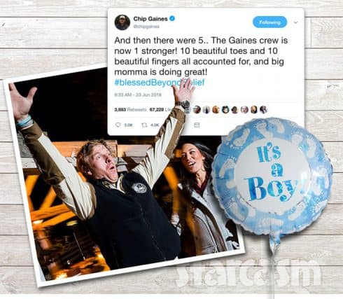 Fixer Upper Joanna Gaines gives birth Chip announces on Twitter