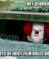 Harvey Weinstein Pennywise the Clown sewer meme It