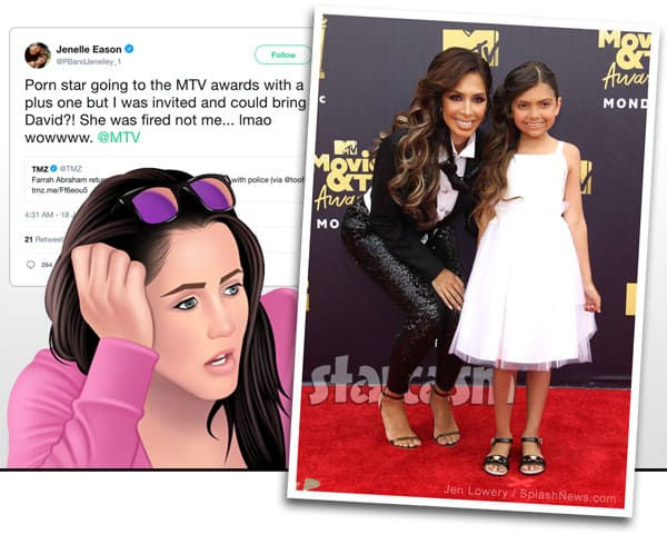 Jenelle Evans Eason Farrah Abraham Sophia MTV Movie Awards invite feud