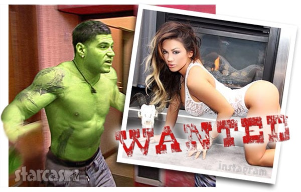 Jersey Shore Ronnie Incredible Hulk girlfriend Jen Harley fight