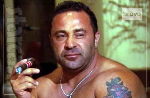 Joe Giudice shirtless cigar