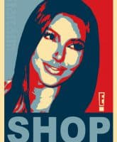 Kim Kardashian political Obama poster shop
