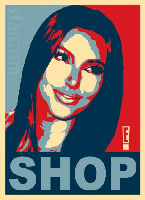 Kim Kardashian political Obama poster shop