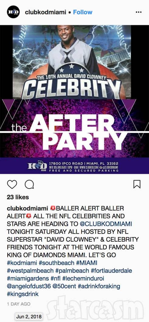 King of Diamonds strip club Miami event David Clowney the night of Lil Scrappy's car accident