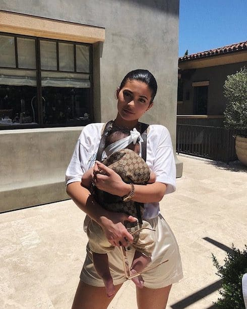 Kylie Jenner's baby carrier 1