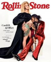 Offset and pregnant Cardi B Rolling Stone cover July 2018