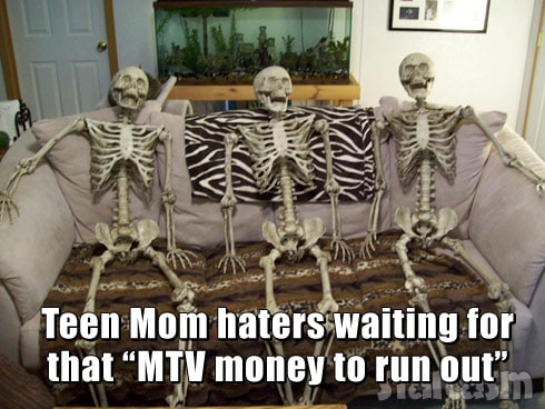 Skeletons couch Teen Mom haters meme