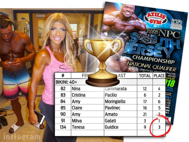 Teresa Giudice NPC competition results 3rd place