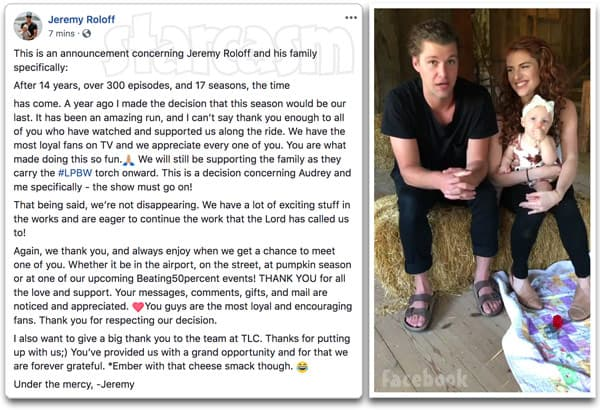 Audrey and Jeremy Roloff quit Little People, Big World full announcement