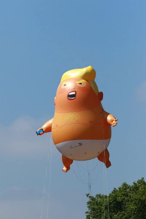 Donald Trump balloon baby 5