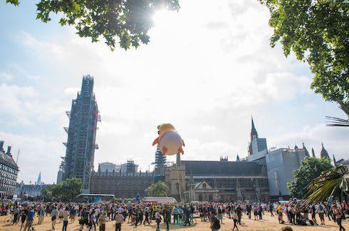 Donald Trump balloon baby 3