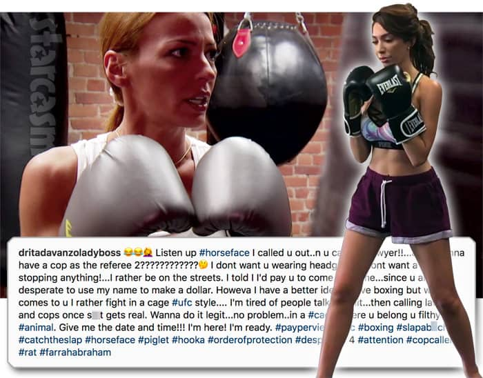 Mob Wives Drita D'Avanzo boxing Farrah Abraham from Teen Mom