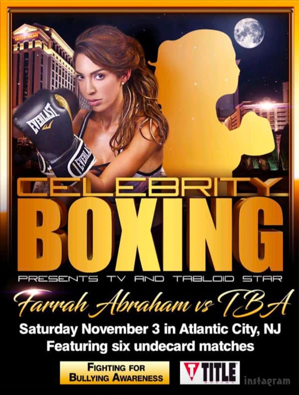 Farrah Abraham celebrity boxing match poster