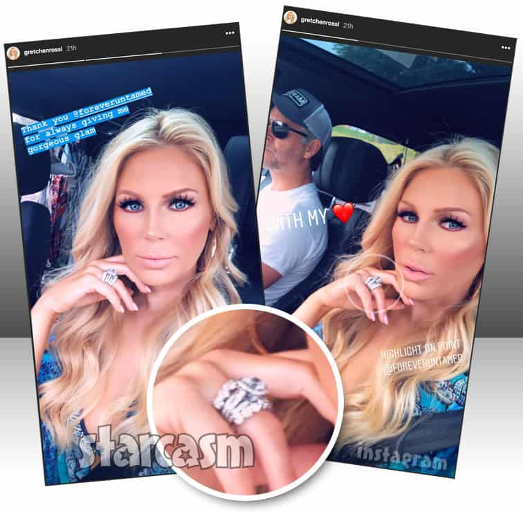 Gretchen Rossi married? Seen wearing new engagement and wedding rings?