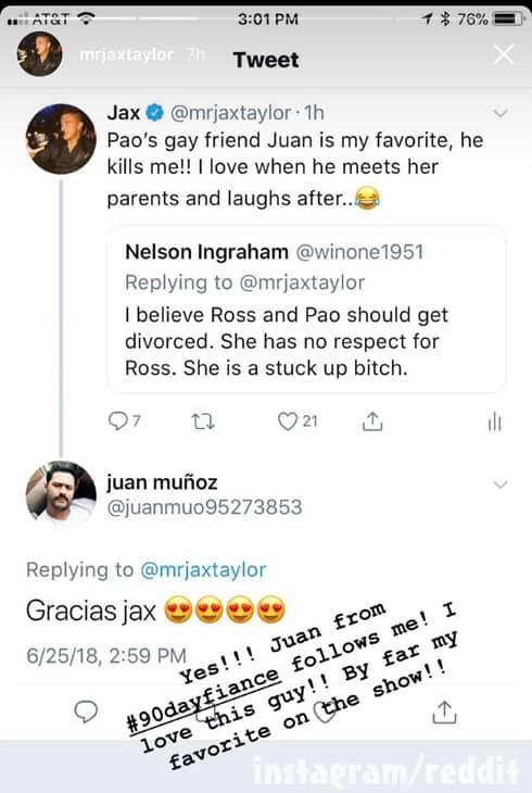 Jax Taylor 90 Day Fiance Happily Ever After fan fan Pao's friend Juan