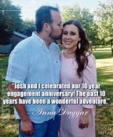Josh Duggar Anna Duggar 2018 anniversary wonderful adventure