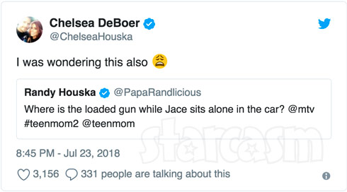 Randy Houska and Chelsea DeBoer react to Jenelle's road rage scene in which Jace was left in an SUV with a gun