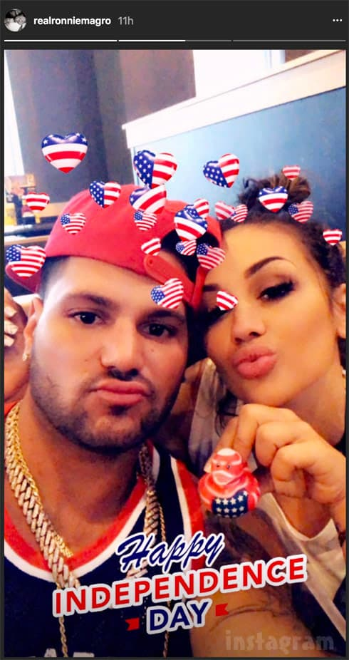 Ronnie Magro Jen Harley back together on the New Jersey shore on the 4th of July